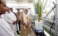 The Prime Minister, Shri Narendra Modi visiting the Plant Phenomics Facility at IARI, in New Delhi on October 11, 2017