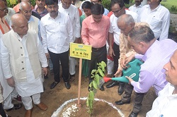 KVK, Morena organizes Mass Plantation Abhiyan and Farmers' Goshthi