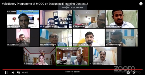 7th MOOC Training Programme on Designing E-Learning Content concludes at ICAR-NAARM