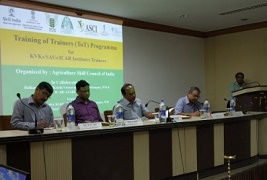 Training of Trainers for Skill Development in Agriculture organized