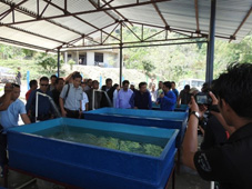 ICAR-DCFR, Bhimtal developed mahseer hatchery and brood bank at Mokokcheng, Nagaland