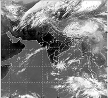 Figure: 1. Latest available satellite picture as on 05  April 2018 at 0230 Hrs (IST). (Source: IMD).