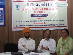 "Training for Master Trainers on ""KVK Sandesh: Mobile App"" at ICAR-ATARI, Ludhiana"