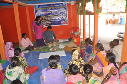 "Training programme on ""Basics of ornamental fish keeping"" for the tribal women of Warungshi, Ahmednagar district, Maharashtra"